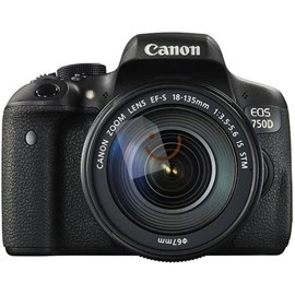 Canon EOS 750D 24.2Mp EF-S 18-135mm IS STM Lens Kit Full HD Dijital SLR Fotoğraf Makinası