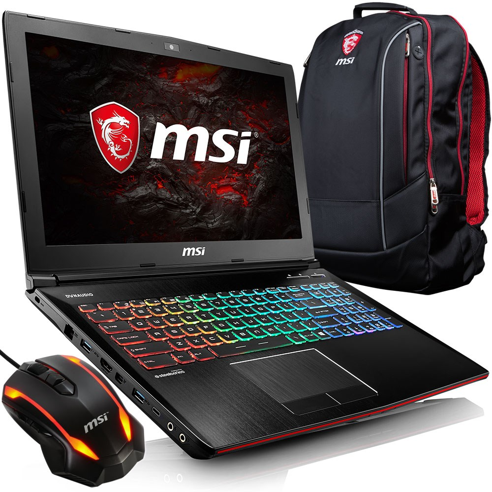 MSI GE62VR 7RF-425XTR Apache Pro Core i7-7700HQ 16GB 128GB +1TB GTX1060 15.6' Full HD FreeDos