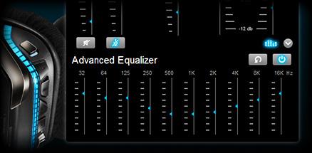 Close up of custom equalizer settings