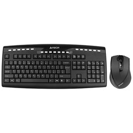 A4 Tech 9200F Kablosuz Q TR Klavye V-Track Optik 2.0 Mouse Set
