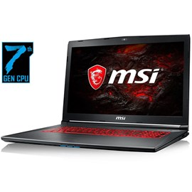 "MSI GV72 7RD-1266XTR Core i7-7700HQ 16GB 128GB SSD 1TB GTX1050 17.3"" Full HD FreeDos"