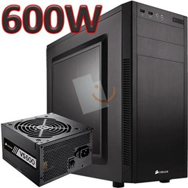 Corsair CC-9020113-EU Carbide Series 100R Mid Tower VS600 80+ 600W Siyah Kasa