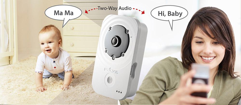 Edimax IC-3140W HD Wireless Day & Night Network Camera, IC-3140_2-way_audio_mami_baby.jpg