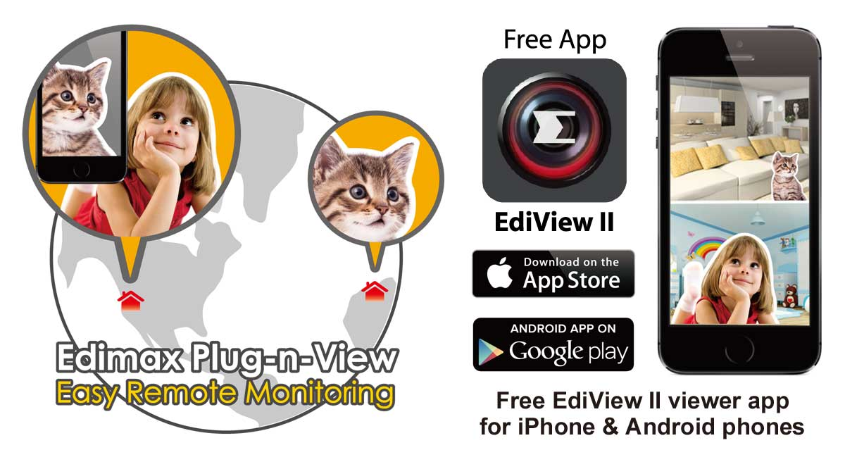 Edimax IC-3140W HD Wireless Day & Night Network Camera, Plug-n-View_EdiView_II_remote_monitoring.jpg